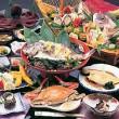 鯛の酒蒸しコース料理一例(4名盛)