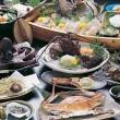 鱧と伊勢海老を中心をした海鮮料理・イセエビ造り2名盛・お刺身2名盛